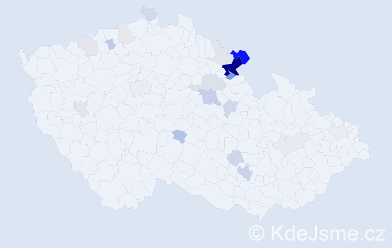 Příjmení: 'Ansorgová', počet výskytů 68 v celé ČR