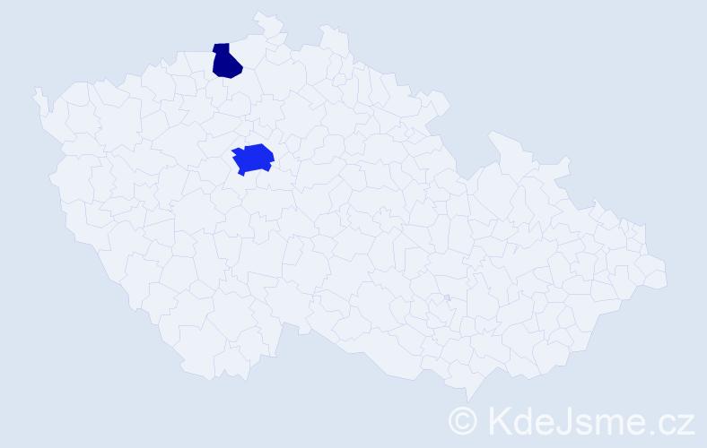 Příjmení: 'Laurentová', počet výskytů 6 v celé ČR