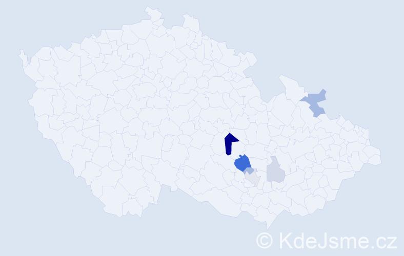 Příjmení: 'Kondýsek', počet výskytů 17 v celé ČR