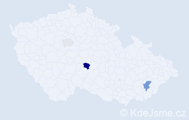 Příjmení: 'Davidova', počet výskytů 7 v celé ČR