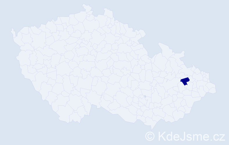 """Příjmení: '""""Abdelrahman Axmann""""', počet výskytů 1 v celé ČR"""