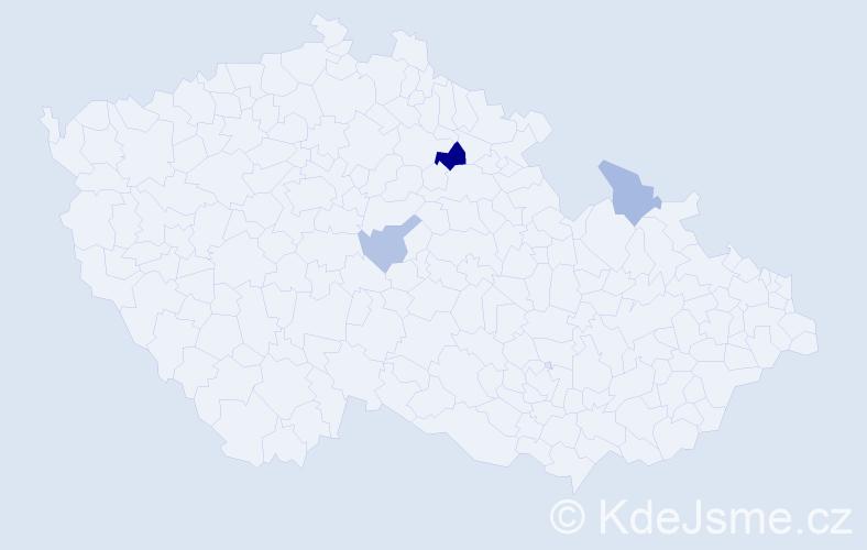 Příjmení: 'Badovská', počet výskytů 5 v celé ČR