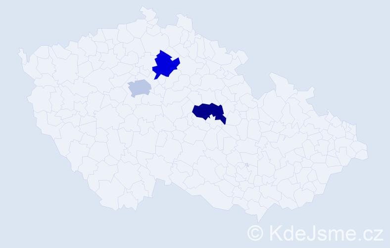 Příjmení: 'Esner', počet výskytů 6 v celé ČR