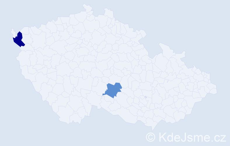 Příjmení: 'Golský', počet výskytů 5 v celé ČR