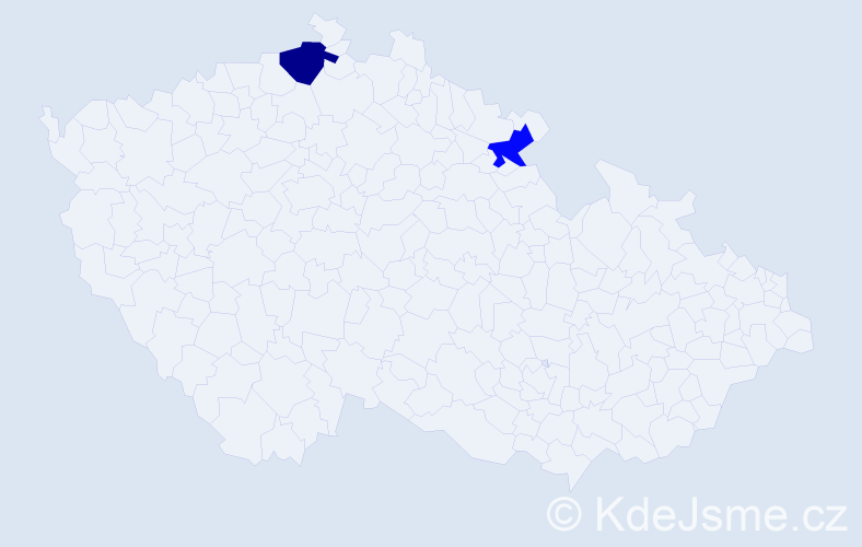 Příjmení: 'Gundza', počet výskytů 5 v celé ČR
