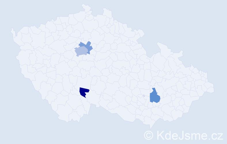 Příjmení: 'Ivanšíková', počet výskytů 7 v celé ČR