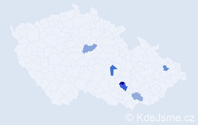 Příjmení: 'Landori', počet výskytů 39 v celé ČR