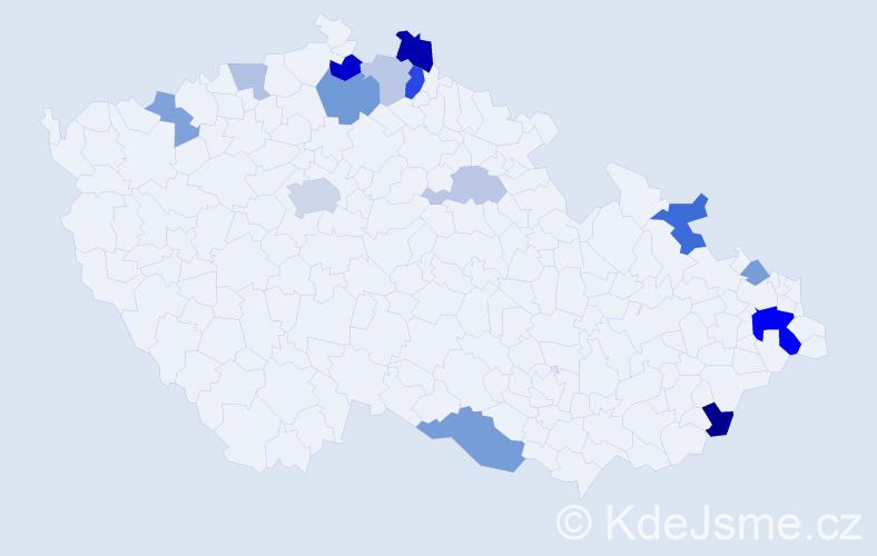 Příjmení: 'Heidrich', počet výskytů 30 v celé ČR