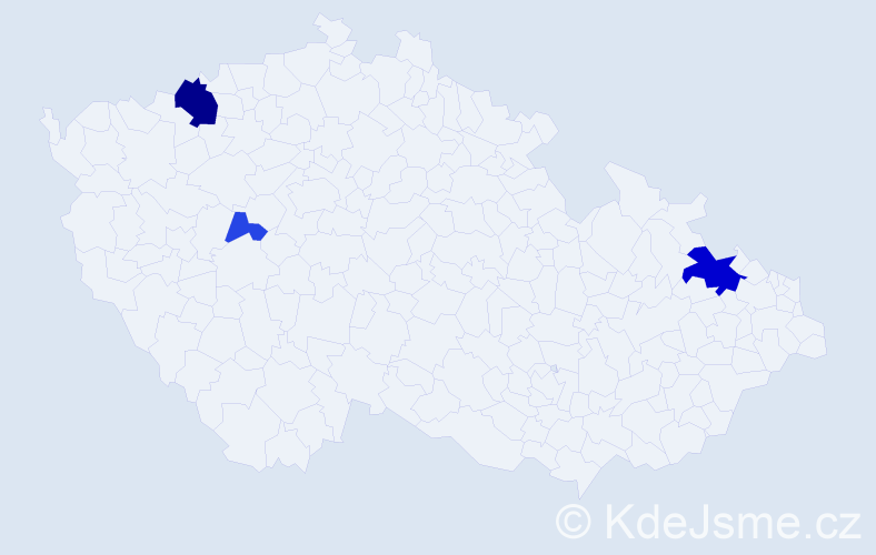 Příjmení: 'Hederváry', počet výskytů 9 v celé ČR