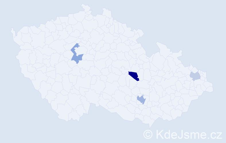 Příjmení: 'Jagsch', počet výskytů 5 v celé ČR