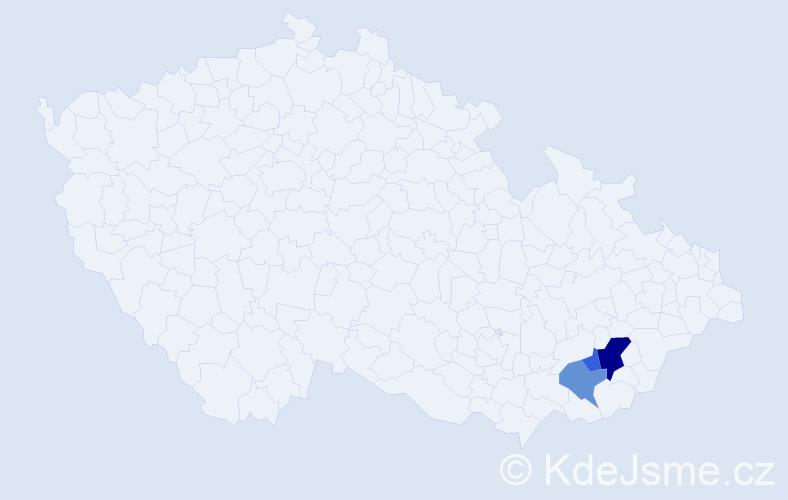 Příjmení: 'Gojš', počet výskytů 13 v celé ČR