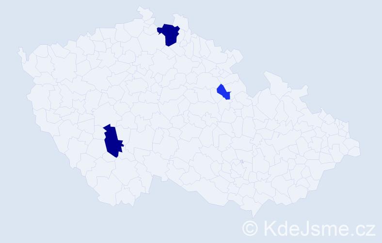 Příjmení: 'Alexi', počet výskytů 10 v celé ČR