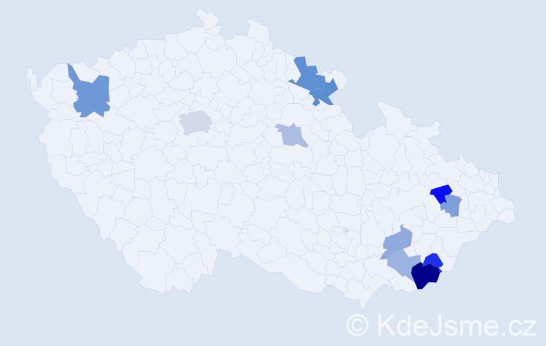 Příjmení: 'Droščáková', počet výskytů 19 v celé ČR