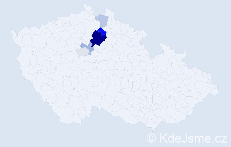 Příjmení: 'Jacinová', počet výskytů 12 v celé ČR
