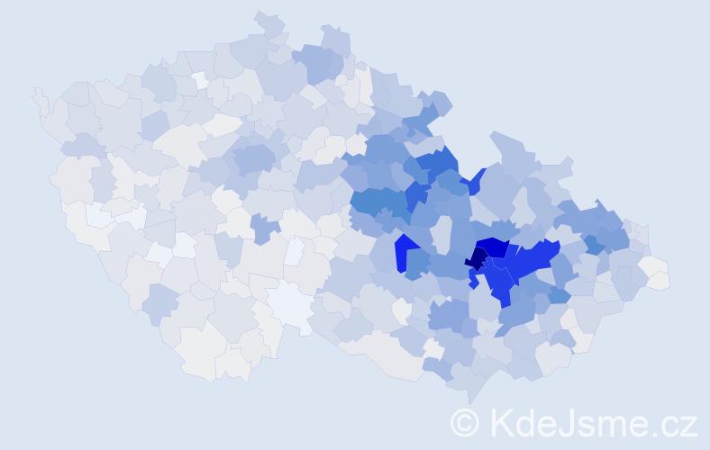 Příjmení: 'Dostálová', počet výskytů 6465 v celé ČR