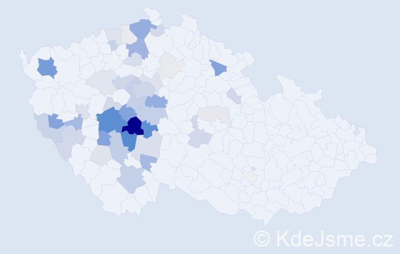 Příjmení: 'Čedíková', počet výskytů 163 v celé ČR