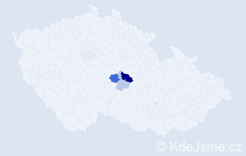 Příjmení: 'Ehrlerová', počet výskytů 9 v celé ČR