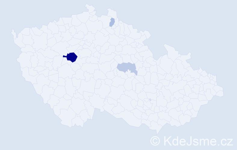 Příjmení: 'Kasseckert', počet výskytů 9 v celé ČR