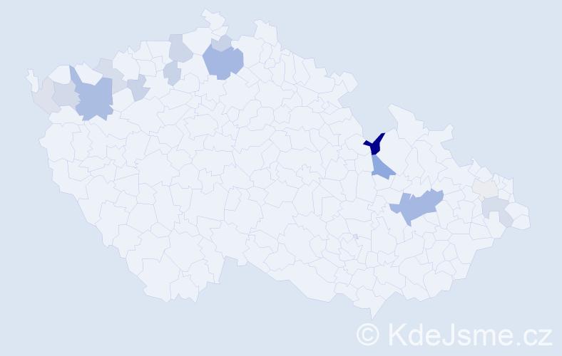 Příjmení: 'Holly', počet výskytů 38 v celé ČR