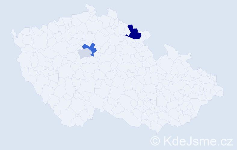 Příjmení: 'Koščál', počet výskytů 7 v celé ČR