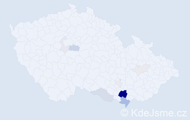 Příjmení: 'Dostoupil', počet výskytů 28 v celé ČR
