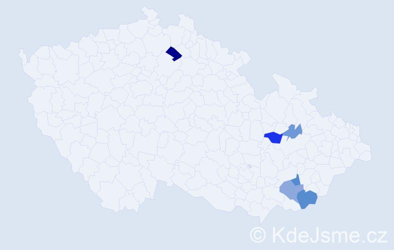 Příjmení: 'Chmelická', počet výskytů 12 v celé ČR