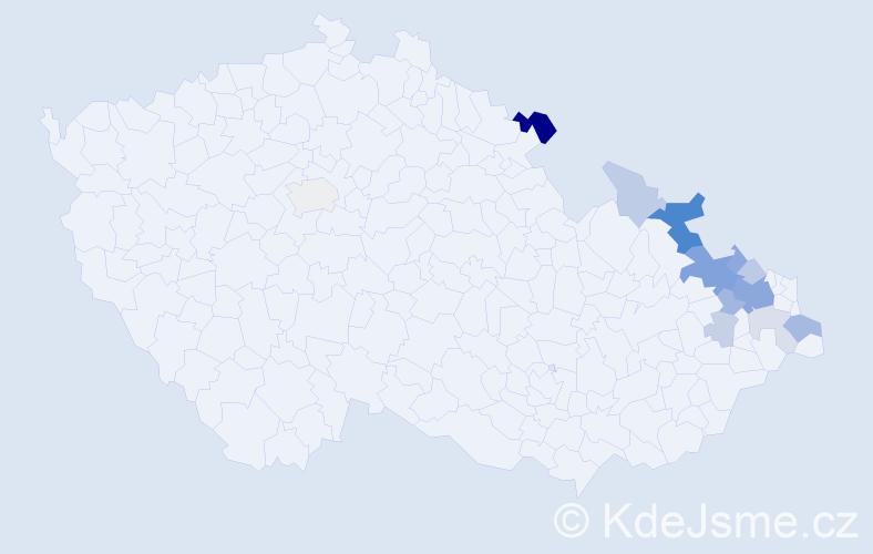 Příjmení: 'Gruner', počet výskytů 33 v celé ČR
