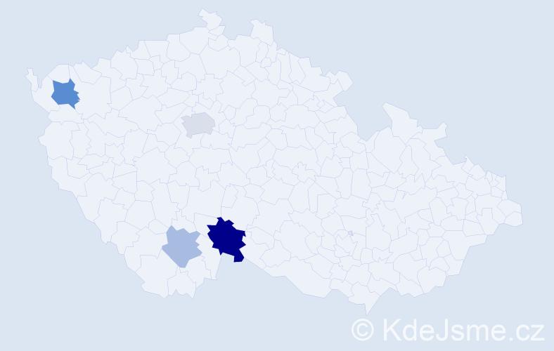 Příjmení: 'Lakron', počet výskytů 8 v celé ČR