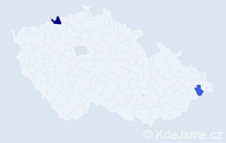 Příjmení: 'Gellerová', počet výskytů 6 v celé ČR