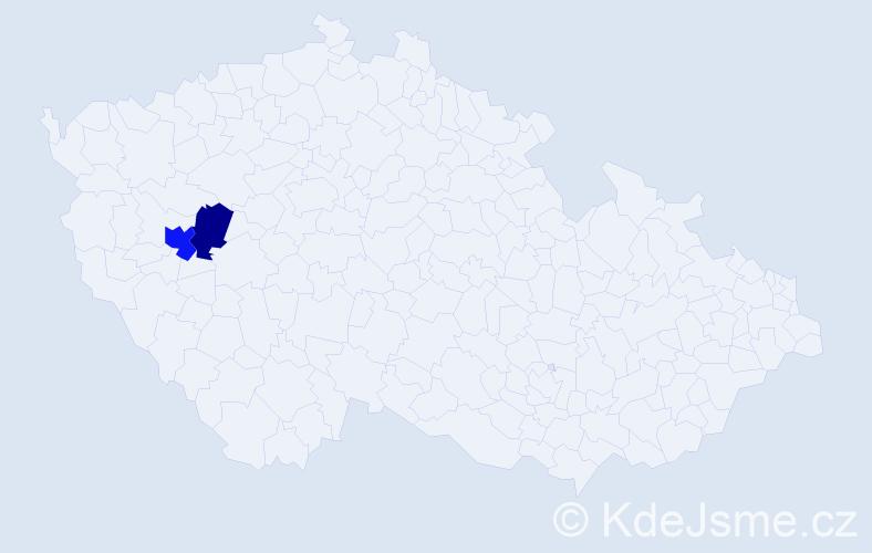 Příjmení: 'Grimpliniová', počet výskytů 3 v celé ČR