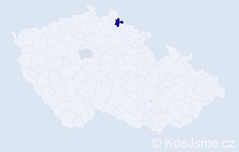 Příjmení: 'Konkolyová', počet výskytů 5 v celé ČR