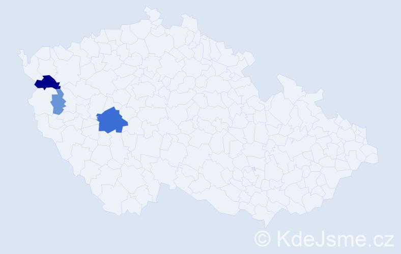 Příjmení: 'Laffarová', počet výskytů 11 v celé ČR