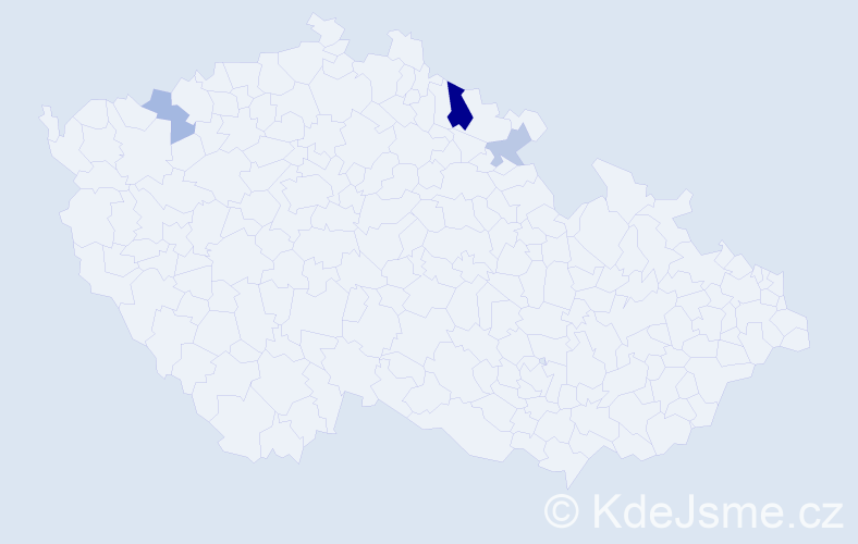 Příjmení: 'Gaboda', počet výskytů 6 v celé ČR