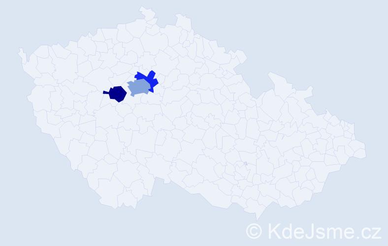 Příjmení: 'Karoušková', počet výskytů 5 v celé ČR
