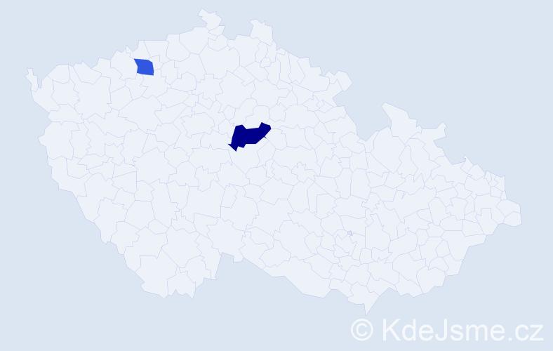 Příjmení: 'Dekiský', počet výskytů 8 v celé ČR