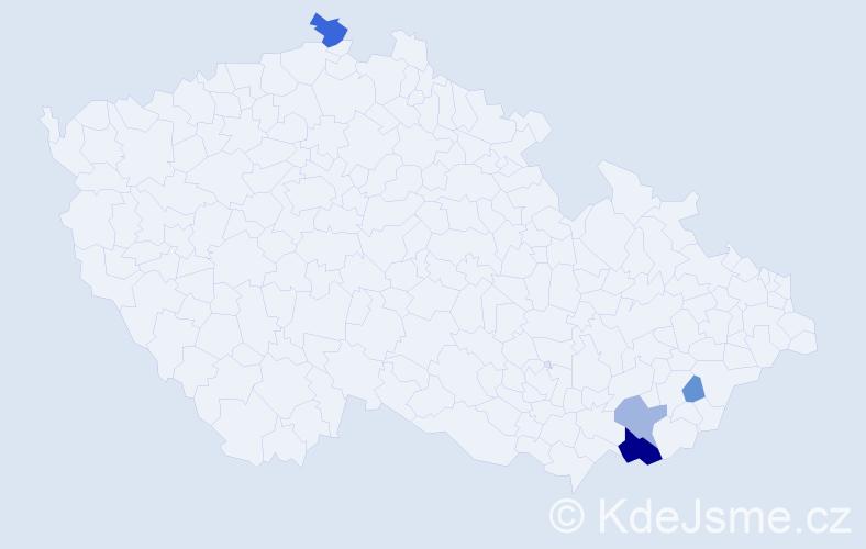 Příjmení: 'Janésková', počet výskytů 12 v celé ČR