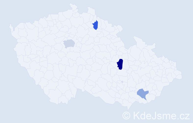 Příjmení: 'Karpelesová', počet výskytů 7 v celé ČR