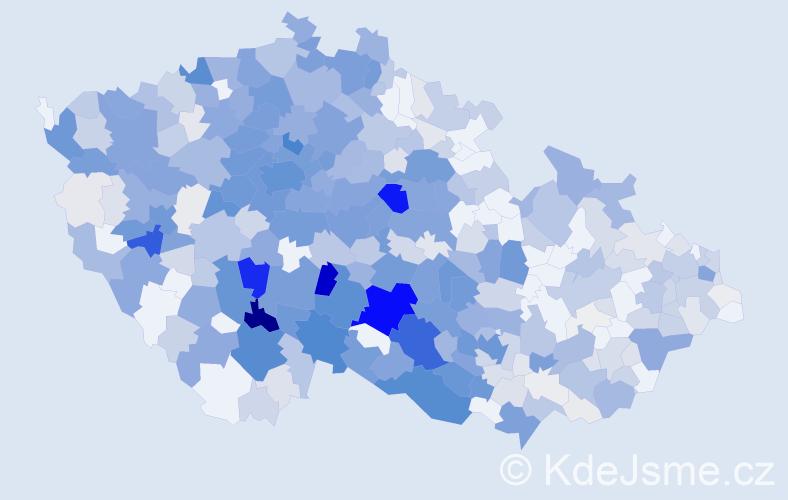 Příjmení: 'Kalina', počet výskytů 2480 v celé ČR