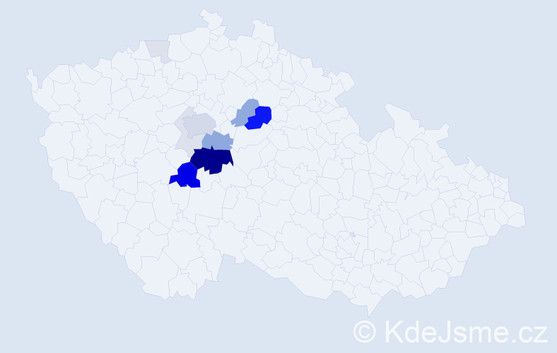 Příjmení: 'Luxemburk', počet výskytů 44 v celé ČR