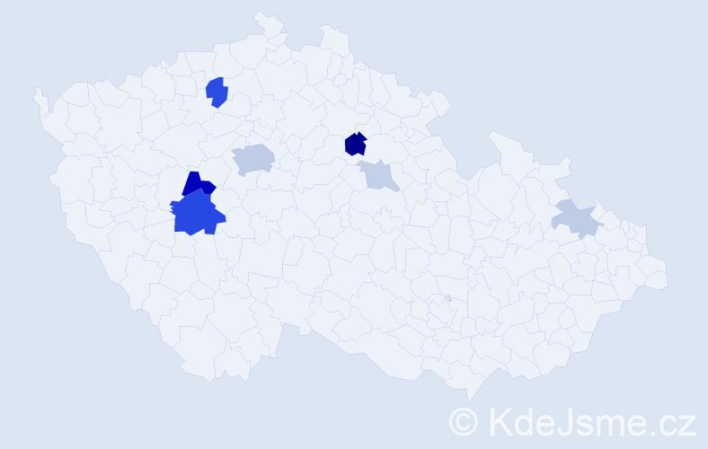 Příjmení: 'Faustusová', počet výskytů 22 v celé ČR