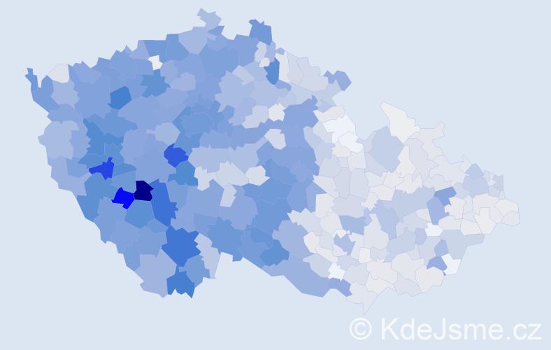 Příjmení: 'Bláhová', počet výskytů 5788 v celé ČR