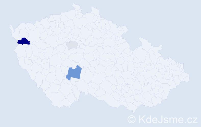 Příjmení: 'Iĺková', počet výskytů 3 v celé ČR