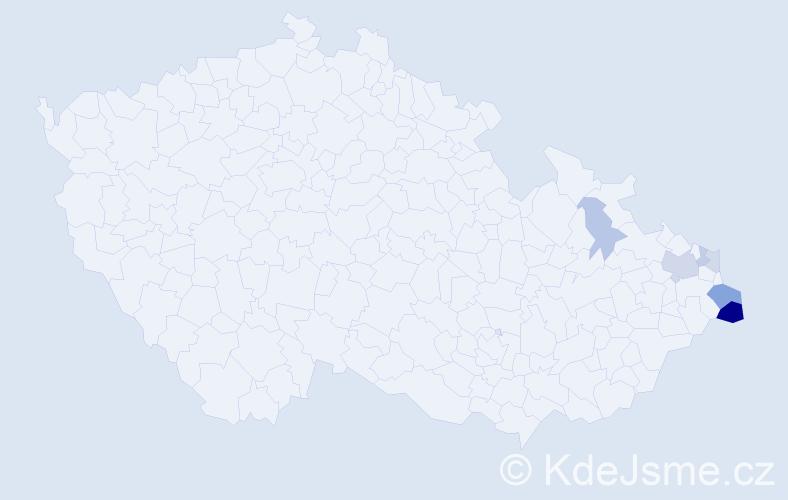 Příjmení: 'Babiuchová', počet výskytů 14 v celé ČR