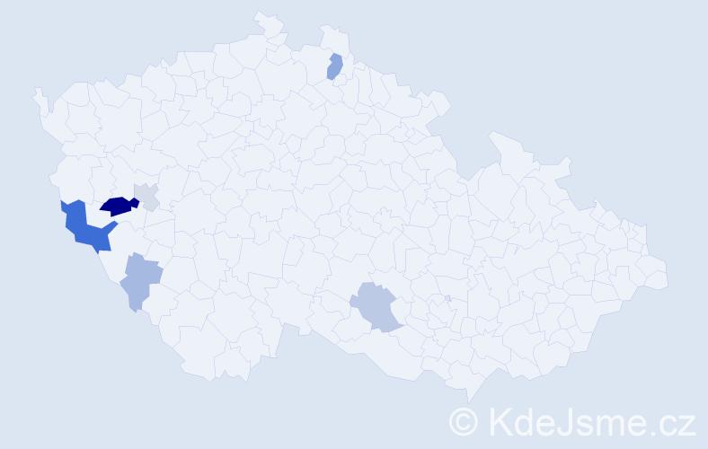 Příjmení: 'Ibehej', počet výskytů 20 v celé ČR