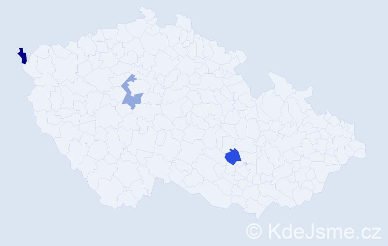 Příjmení: 'Eichenbergerová', počet výskytů 4 v celé ČR