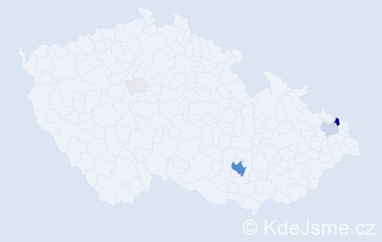 Příjmení: 'Goczalová', počet výskytů 11 v celé ČR
