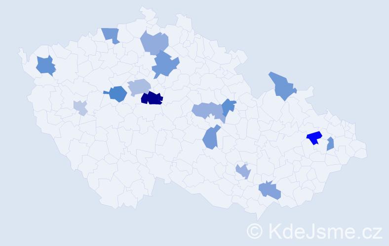 Příjmení: 'Hernandez', počet výskytů 31 v celé ČR