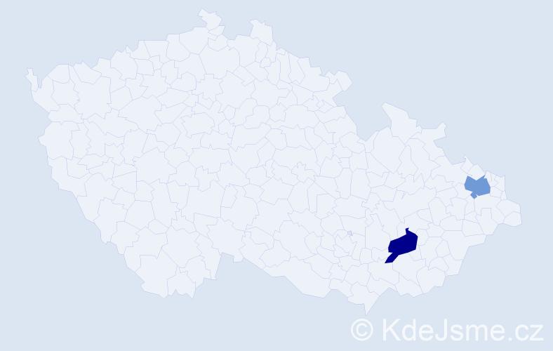 Příjmení: 'Lamadrid', počet výskytů 2 v celé ČR
