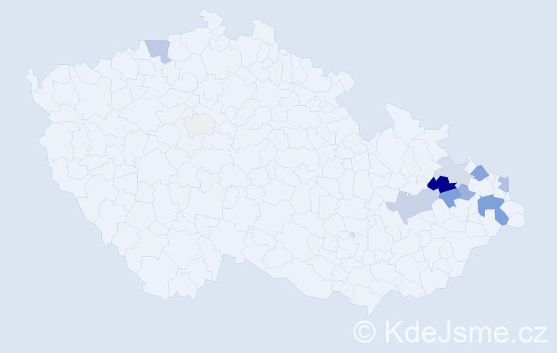 Příjmení: 'Gasman', počet výskytů 20 v celé ČR