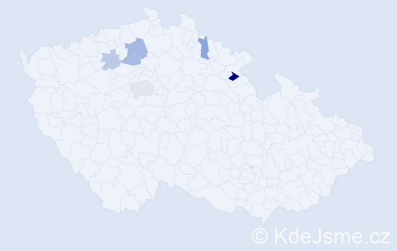 Příjmení: 'Čorič', počet výskytů 12 v celé ČR